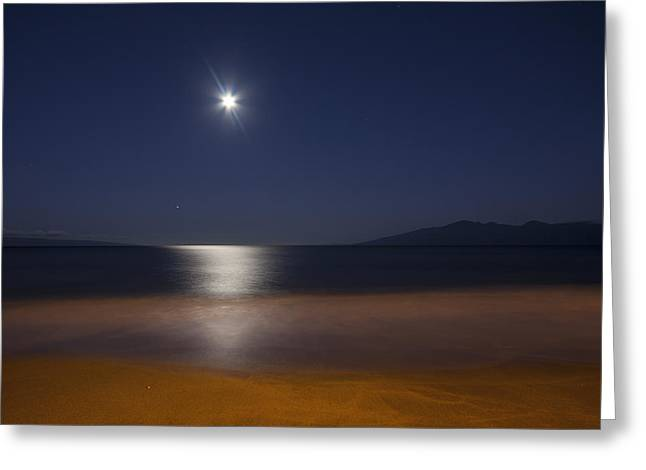 Maui Moonset Greeting Card