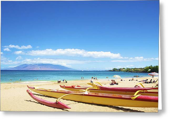 Maui Outriggers Greeting Card by Kicka Witte