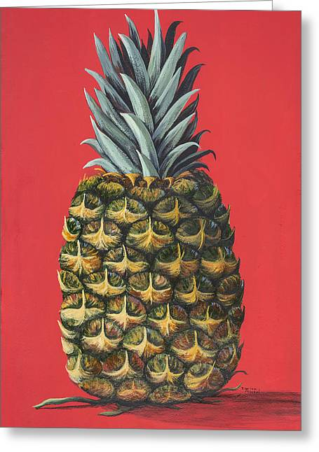 Maui Pineapple 2 Greeting Card by Darice Machel McGuire