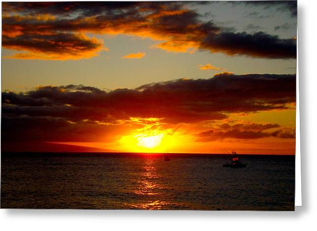 Greeting Card featuring the photograph Maui Seascape by Tamara Bettencourt