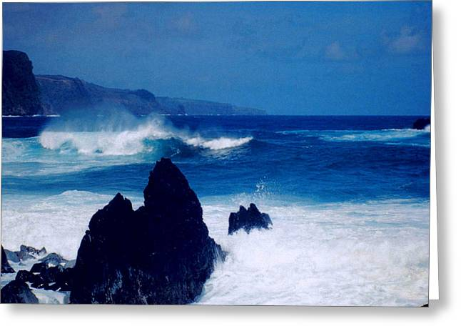 Maui Shore At The Keanae Pennisula Greeting Card by J D Owen