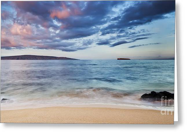 Maui Sunrise With Kahoolawe Molokini And Lanai Greeting Card