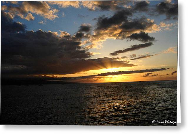 Maui Sunset Greeting Card