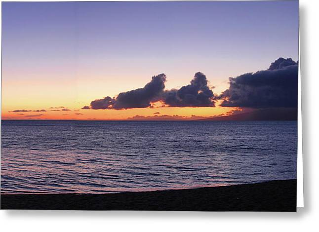 Maui Sunset Panorama Greeting Card