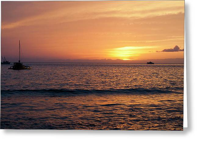 Greeting Card featuring the photograph Maui Sunset by Randy Bayne