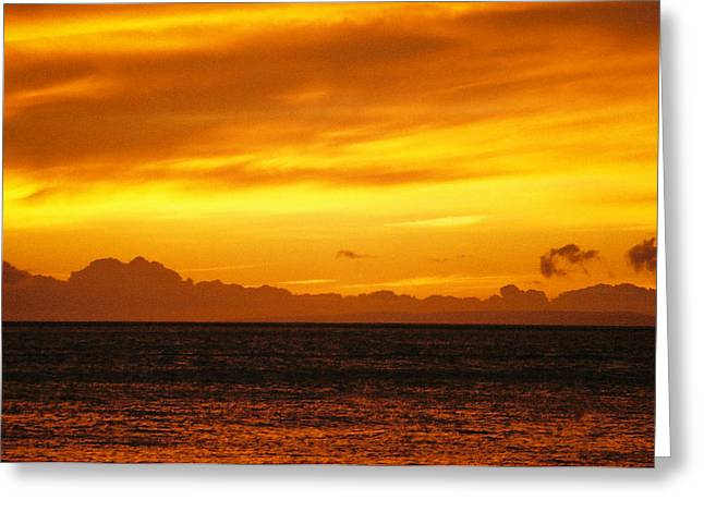 Maui Sunset Sun 125 Greeting Card