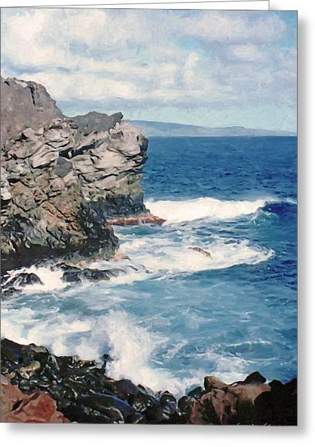 Maui Surf Greeting Card