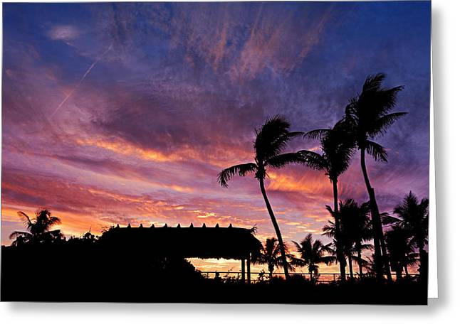 Maui Tiki Sky Greeting Card