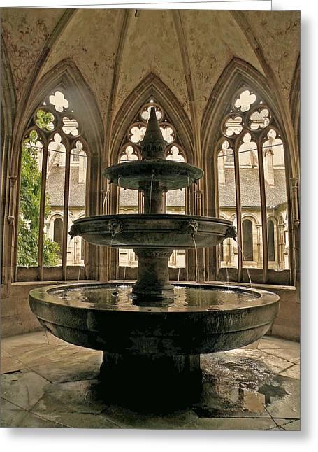 Maulbronn Fountain Greeting Card