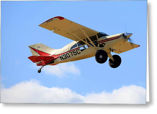 Maule M-7-235a Stol Fly-by N3075c Greeting Card by John King