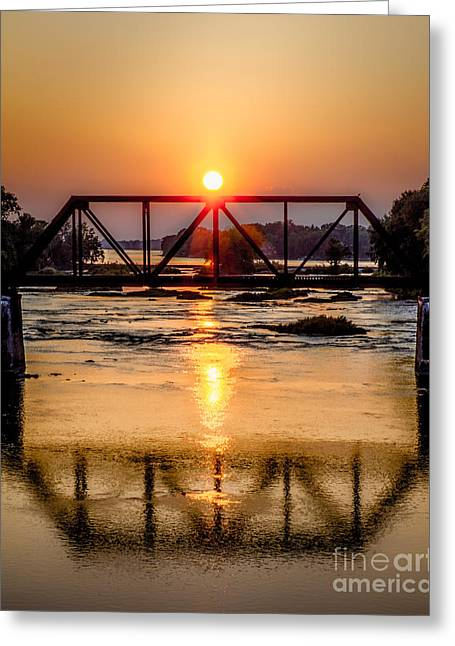 Maumee River At Grand Rapids Ohio Greeting Card