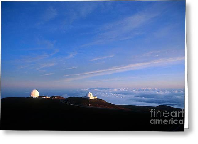 Mauna Kea Observatory Greeting Card by Gregory G. Dimijian