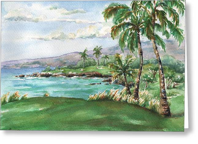 Mauna Kea's Signature Hole Greeting Card by Lisa Bunge