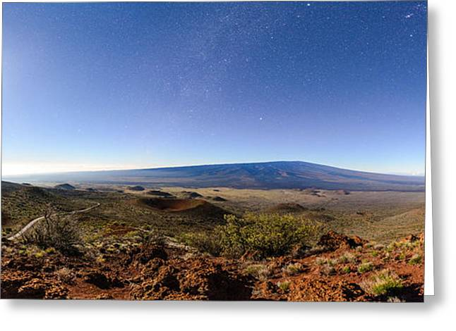 Mauna Loa Moonlight Panorama Greeting Card