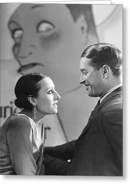 Maurice Chevalier And Yvonne Vallee Greeting Card by George Hoyningen-Huen?