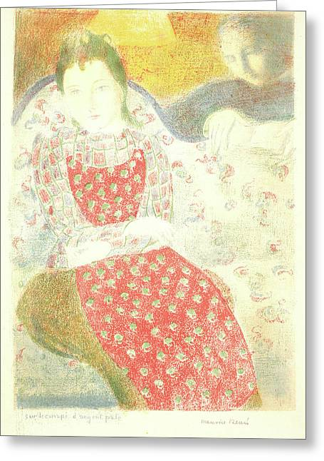Maurice Denis French, 1870 - 1943. On The Sofa Of Pale Greeting Card by Litz Collection