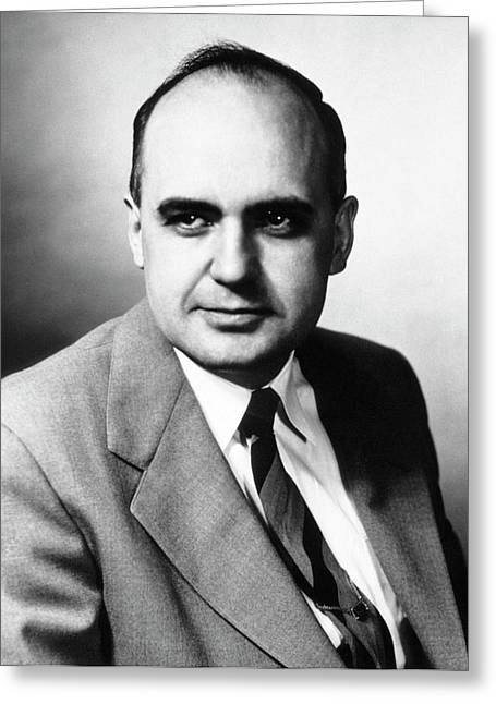 Maurice Hilleman Greeting Card by National Library Of Medicine