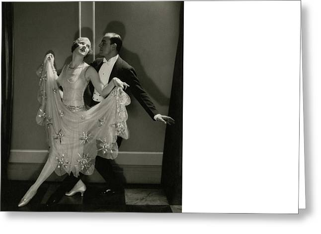 Maurice Mouvet And Leonora Hughes Dancing Greeting Card by Edward Steichen