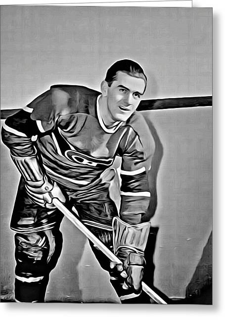 Maurice Richard Greeting Card by Florian Rodarte