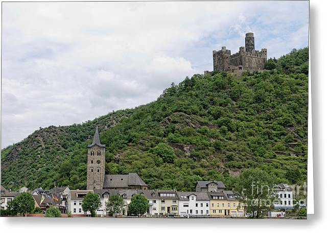 Maus Castle In Germany Greeting Card by Oscar Gutierrez