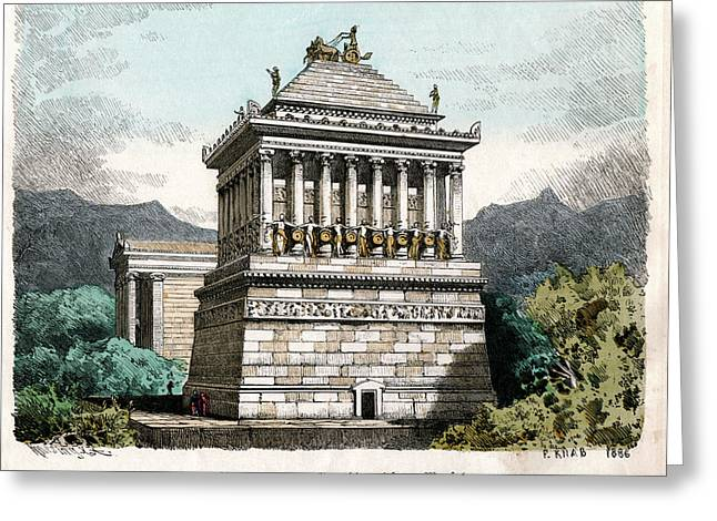 Mausoleum At Halicarnassus Greeting Card by Cci Archives