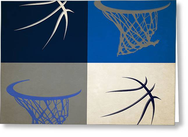 Mavericks Ball And Hoop Greeting Card