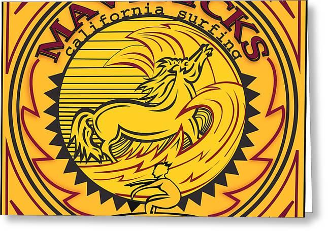 Mavericks Half Moon Bay California Greeting Card by Larry Butterworth