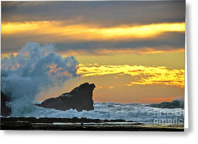 Mavericks - Princeton By The Sea Greeting Card by Amy Fearn