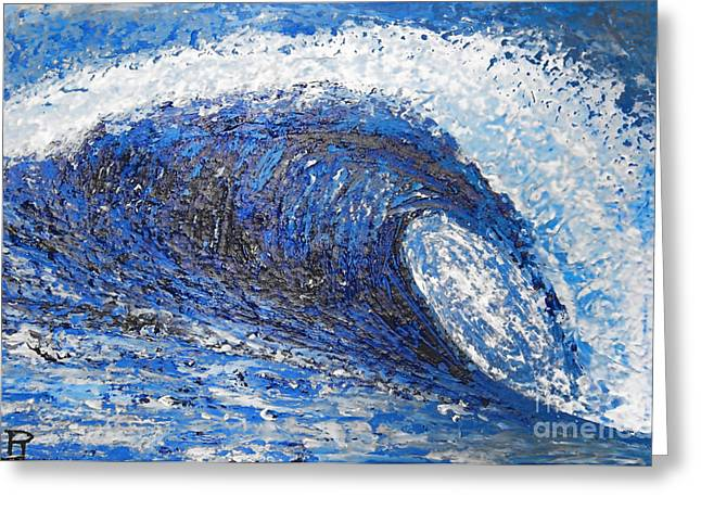 Mavericks Wave Greeting Card by RJ Aguilar