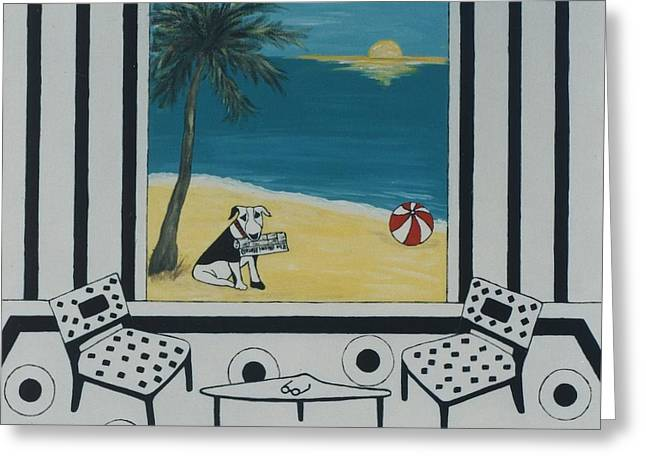Max And The Miami Herald Greeting Card by Inge Lewis