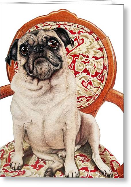 Max Greeting Card by Danielle R T Haney
