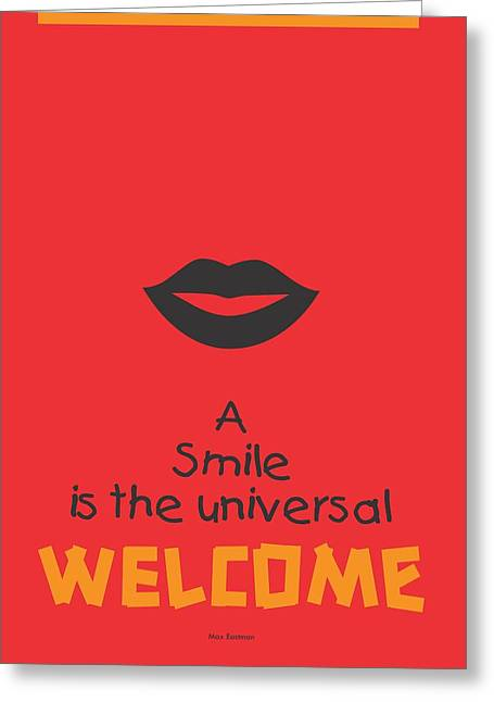 Max Eastman Smile Quotes Poster Greeting Card