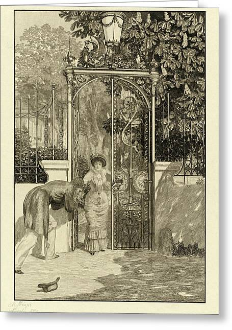 Max Klinger, At The Gate Am Thor Pl Greeting Card by Quint Lox