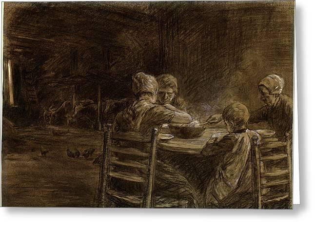 Max Liebermann, German 1847-1935, East Frisian Peasants Greeting Card