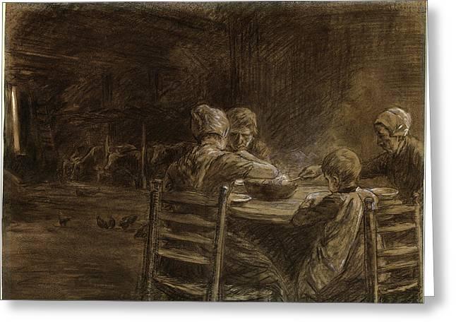 Max Liebermann German, 1847 - 1935, East Frisian Peasants Greeting Card
