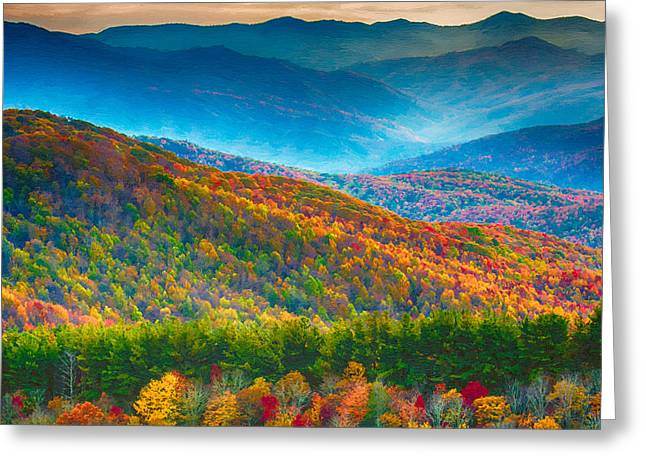 Max Patch Bald Fall Colors Greeting Card