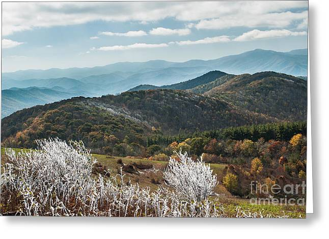 Greeting Card featuring the photograph Max Patch In Appalachian Mountains by Debbie Green