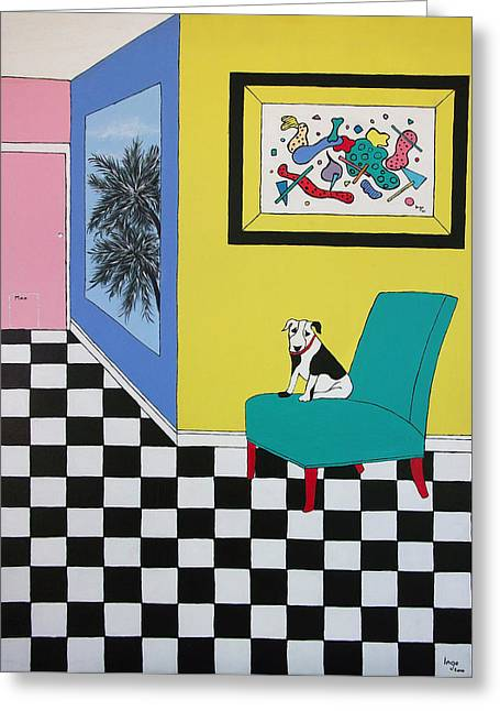 Max Relaxing  Greeting Card by Inge Lewis