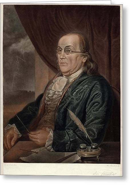 Max Rosenthal After Charles Willson Peale Greeting Card by Quint Lox