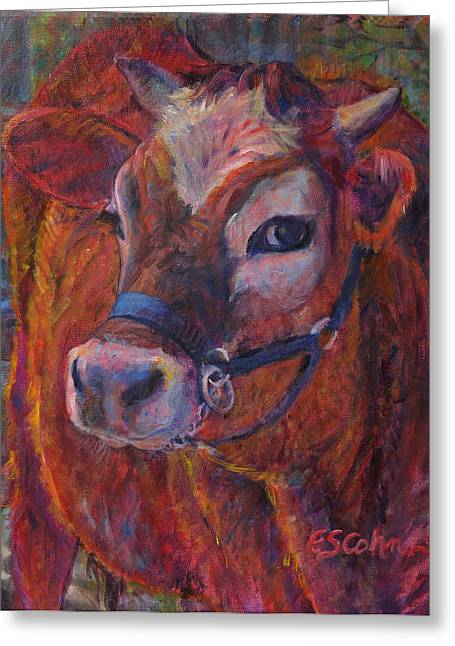 Max The Cow Greeting Card