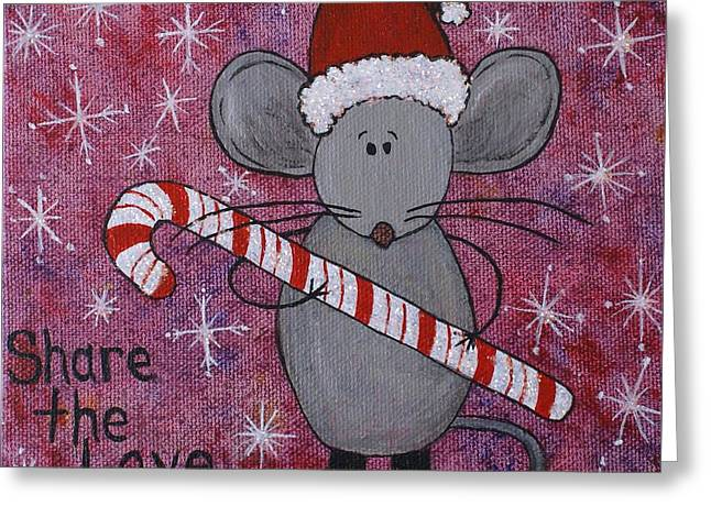 Max The Mouse Greeting Card by Jane Chesnut