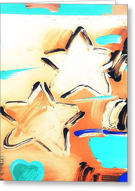 Max Two Stars In Inverted Colors Greeting Card by Rob Hans