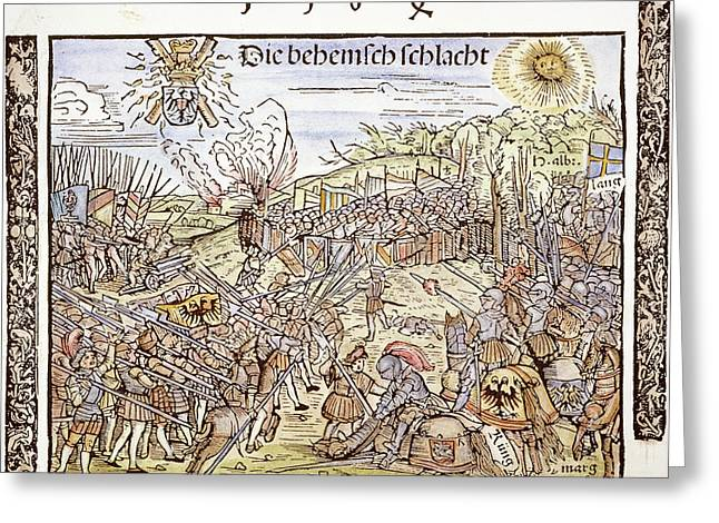Maximilian I In Battle, 1504 Greeting Card by Granger