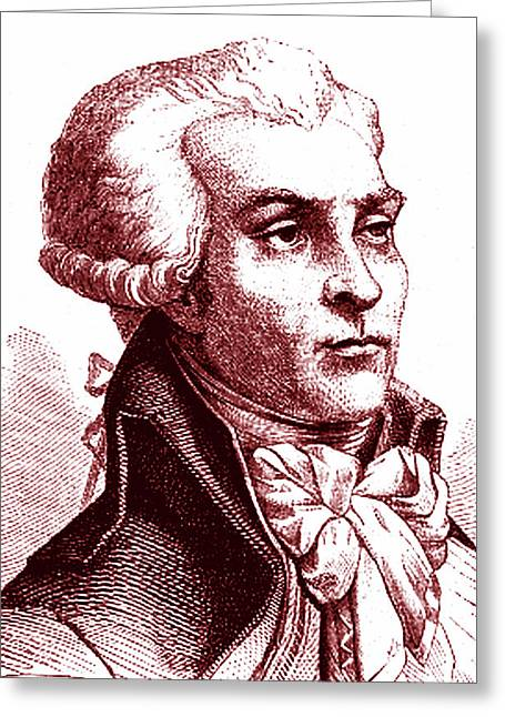 Maximilien Robespierre Greeting Card by Collection Abecasis