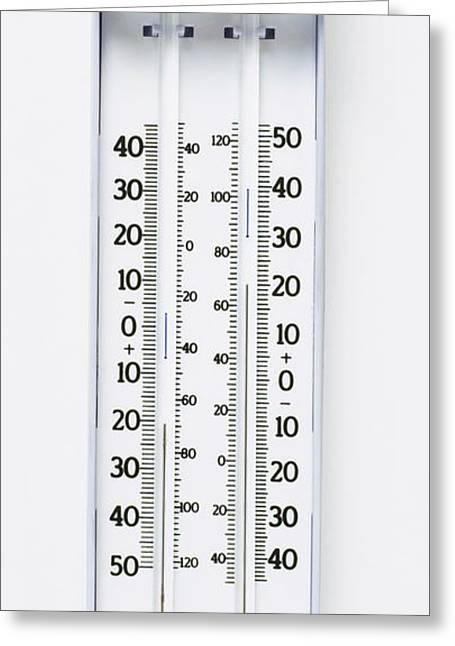 Maximum-minimum Thermometer Greeting Card by Dorling Kindersley/uig