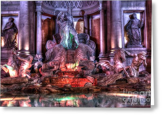 Trevi Fountain Greeting Card by Kevin Ashley