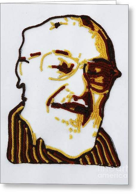 Greeting Card featuring the painting Max's Portrait by PainterArtist FINs husband Maestro