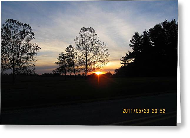 May 23 Sunset One Greeting Card