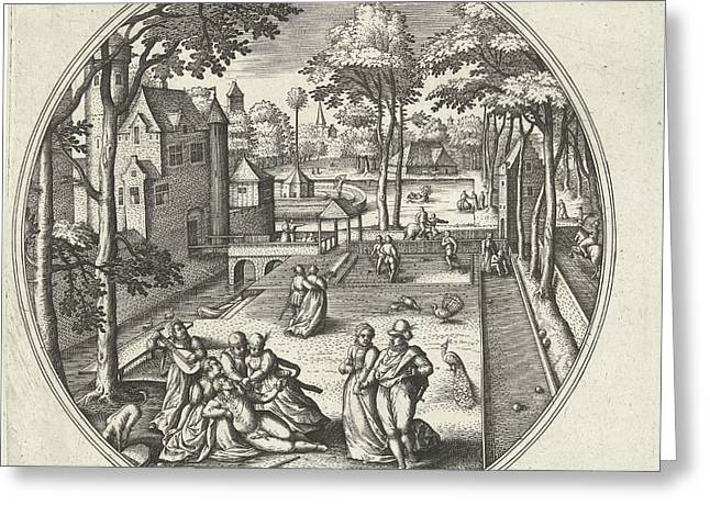 May, Adriaen Collaert, Hans Bol, Hans Van Luyck Greeting Card by Adriaen Collaert And Hans Bol And Hans Van Luyck