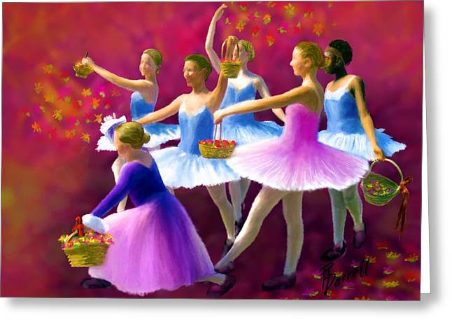 May Dancers Greeting Card by Ric Darrell